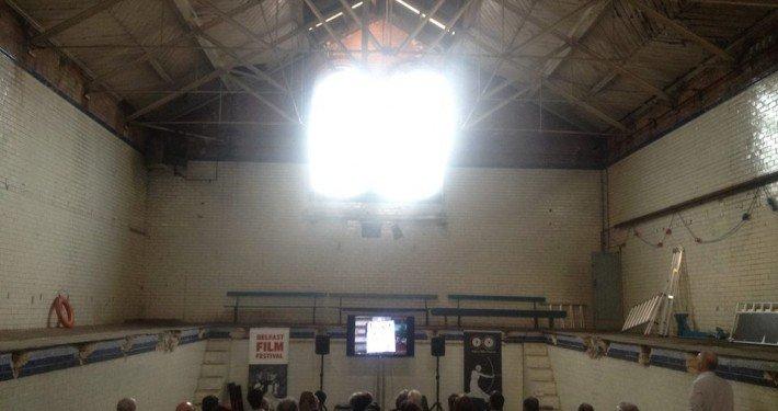 Film screening in Templemore Baths, East Belfast
