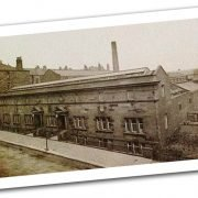 black and white image of Govanhill Baths exterior from 1920s