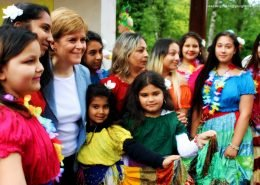 Children with Nicola Sturgeon