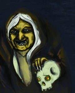 Painting of traditional witch