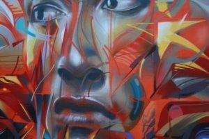 Graffiti of face