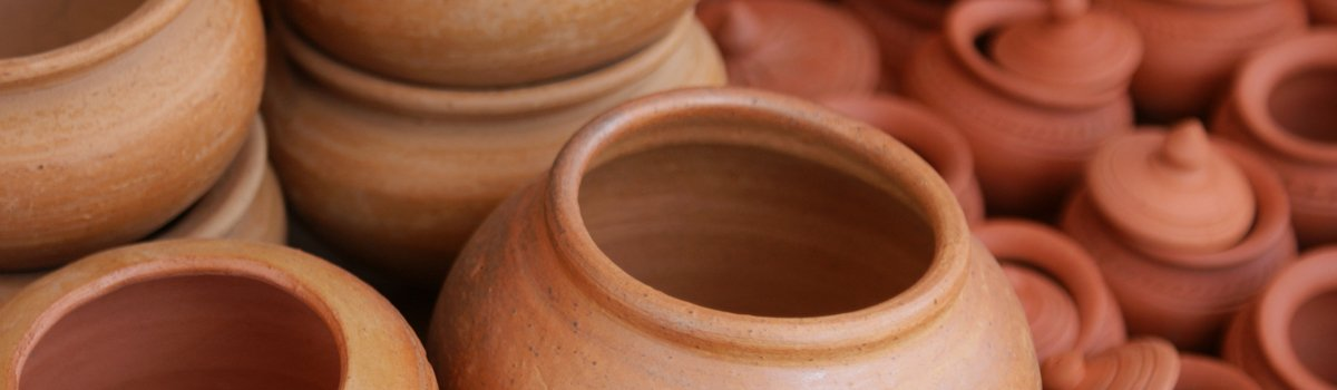 close up of clay pot