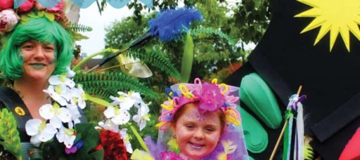 Whats on cover with young girl in carnival costume