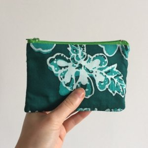 Blue and turquoise floral purse