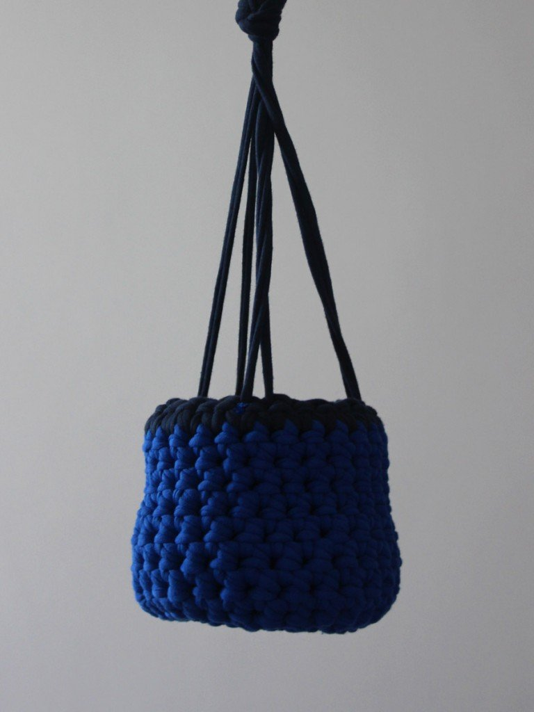 Dark blue hanging basket product