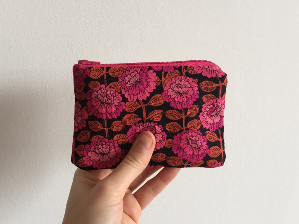 Fuchsia Floral Upcycled Purse