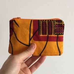 Yellow batik orange zip