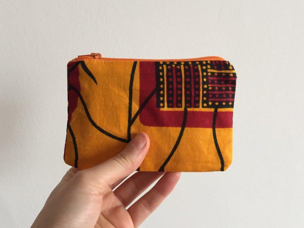 Yellow batik orange zip