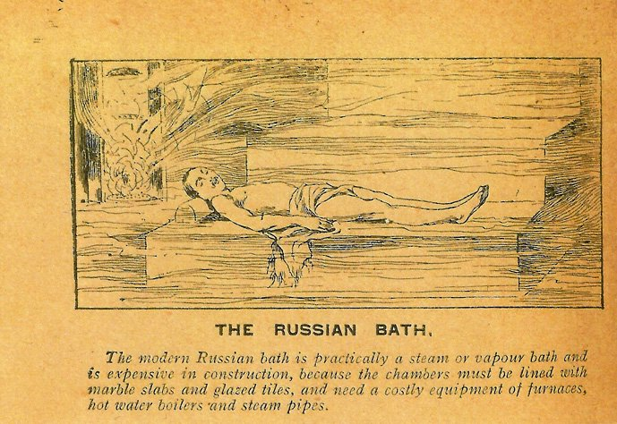 Paper clipping: The Russian Bath