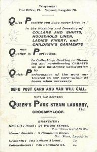 Steam laundry advert