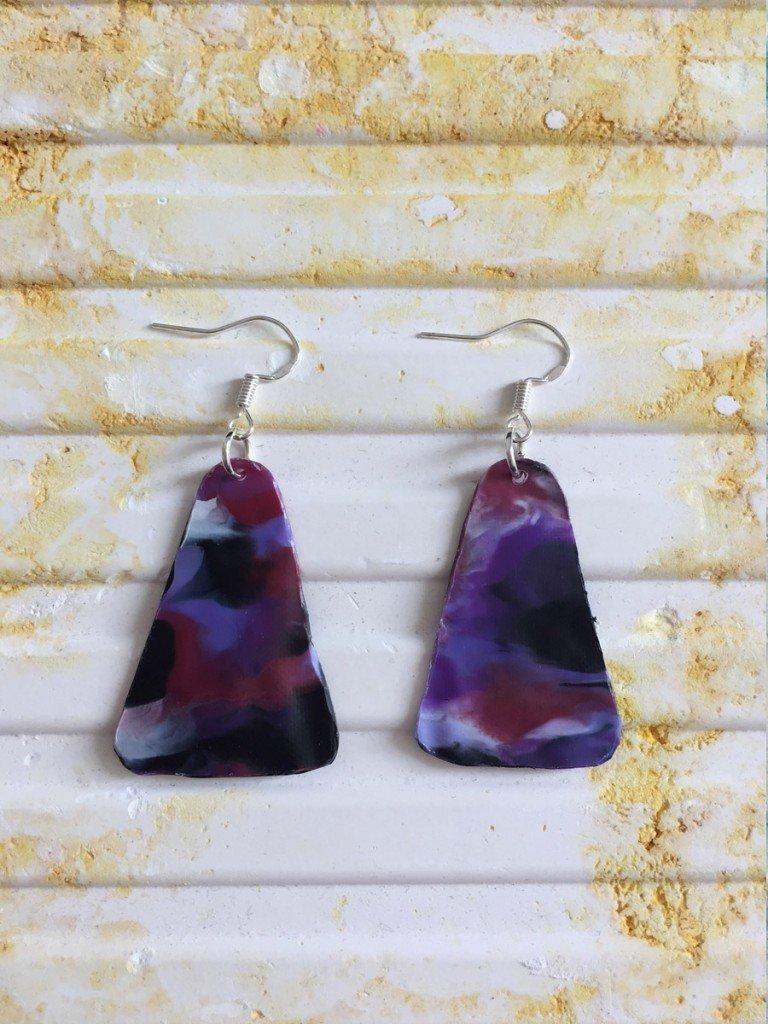ultraviolet | Triangle earrings