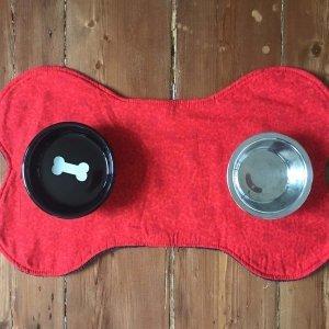 Red Doggy Print Matt - top view