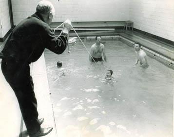 A swimming lesson