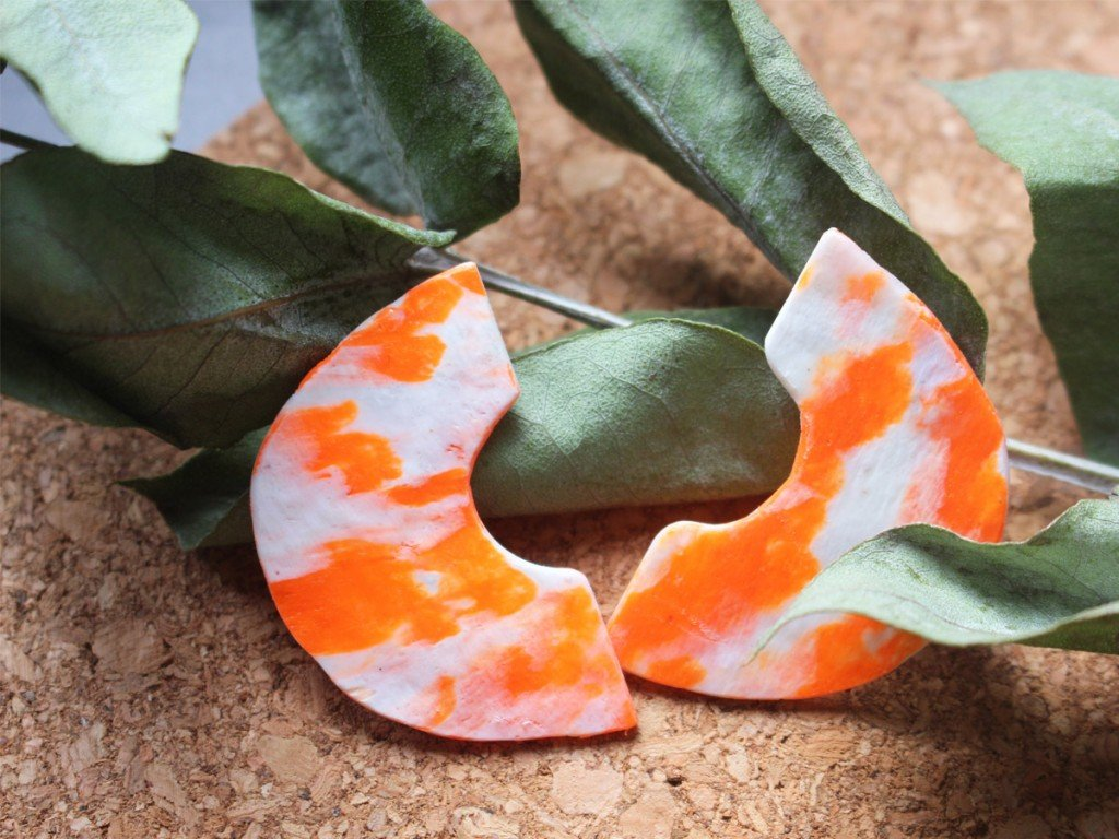 Orange and White C Shape