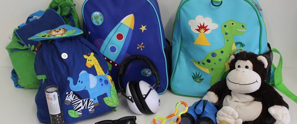 Backpacks and toys