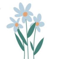 Illustration of blue flower